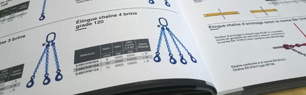 Catalogue de nos accessoires de levage, manutention et arrimage